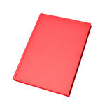 Blank red hardcover book Stock Image