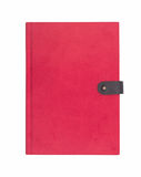 Blank red hardcover notebook Stock Photos
