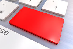 Blank Red keyboard button Royalty Free Stock Photos