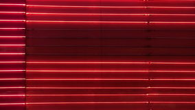 Blank Red Neon Wall Loop. An abstract and blank loop of chasing red neon stock video footage