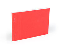 Blank red notebook isolated on white background. Stock Image