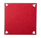 Blank red notecard Royalty Free Stock Photos