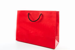 Blank red paper shopping bag. Stock Photography