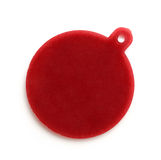 Blank red round badge. On white background stock images