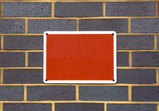 Blank Red Sign Royalty Free Stock Photo