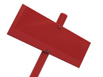 Blank red sign closeup Stock Images
