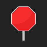 Blank red stop sign vector icon. Empty danger symbol vector illustration Royalty Free Stock Photo