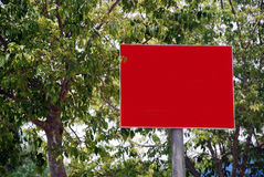 Blank red Street Sign Stock Photo
