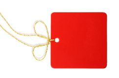 A blank red tag Royalty Free Stock Photo