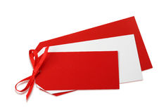 Blank red tag Royalty Free Stock Photography