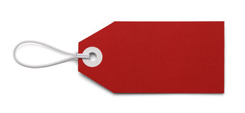 Blank Red Tag Royalty Free Stock Photo