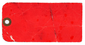 Blank Red Tag on White Background Stock Photos