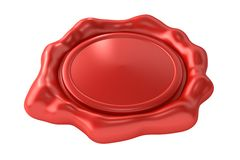 Blank Red Wax Seal Royalty Free Stock Photography