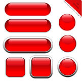 Blank red web buttons Royalty Free Stock Images
