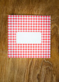 Blank red an white checked windowed envelope Royalty Free Stock Photos