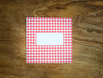 Blank red an white checked windowed envelope Royalty Free Stock Images