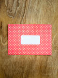 Blank red and white polka dot windowed envelope Royalty Free Stock Images