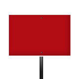 Blank Red White Warning Sign Royalty Free Stock Photography