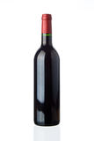 Blank red wine bottle Stock Photo