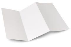 blank reklamblad vikt sicksack Arkivfoton
