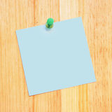 Blank Reminder on Wood Desk Stock Image