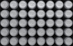 Blank rendered cans top view background. Blank renderd cans background. Top view with studio lightning royalty free illustration
