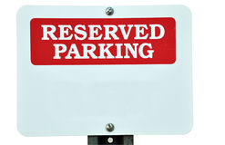 Blank Reserved Parking Sign Royalty Free Stock Photography