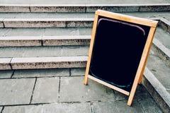 Blank restaurant or bar menu chalkboard. As copy space Stock Photo