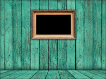 Blank Retro Frame in Green Room Royalty Free Stock Photo