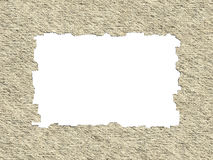 Blank Retro Paper Frame Texture with Clipping Path Stock Images