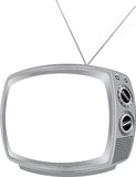Blank retro tv Royalty Free Stock Photo