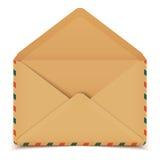 Blank retro vector open envelope isolated on white Royalty Free Stock Photo