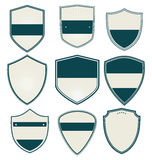 Blank retro vintage badges and labels Stock Image