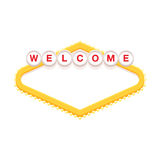Blank retro welcome sign. Vector illustration Royalty Free Stock Photos