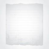 Blank rivet papper Fotografering för Bildbyråer