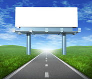 Blank road billboard Stock Photo