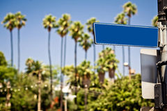 Blank road direction sign Royalty Free Stock Photo