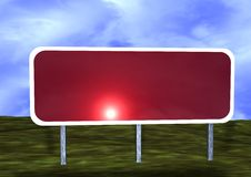 Blank Road Sign Royalty Free Stock Images