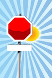 Blank road sign. An illustration of three colored blank road sign Stock Photos