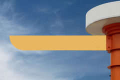 Blank Road Sign. With a sky background. (Photo with clipping path Royalty Free Stock Images