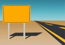 Blank Road Sign Stock Images