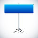 Blank road sign. Royalty Free Stock Photography