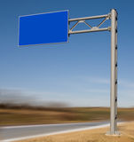 Blank road-sign Royalty Free Stock Photo