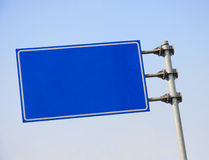 Blank road sign. With blue sky Stock Images