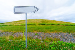 Blank road sign arrow Stock Image