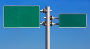 Blank road sign board Stock Photos