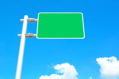 Blank road sign board on blue sky background Stock Image