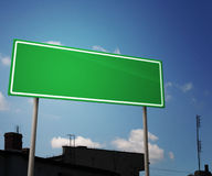 Blank Road Sign in City Stock Photos