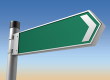 Blank road sign 3d illustration Stock Photography