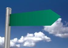 Blank road sign 3d illustration Stock Image
